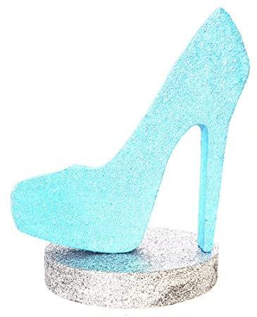 9d960c5fc17 Amazon.com  High Heel Centerpiece (Rain Blue Silver)  Health ...