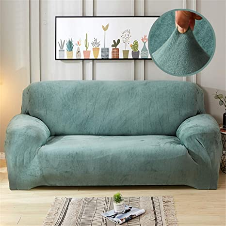 Amazon.com: Funda de sofá de felpa elástica gruesa para sofá ...