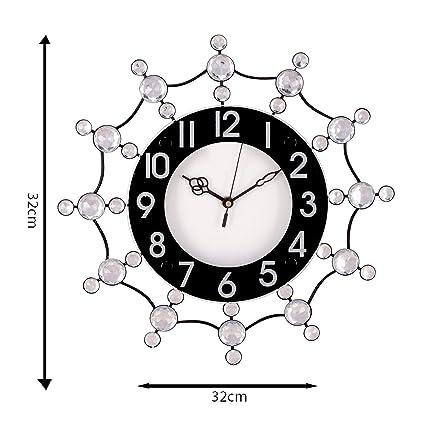 e284547cc Buy eCraftIndia Diamond Series Analog Iron and Crystal Wall Clock (32 cm x  8 cm x 32 cm