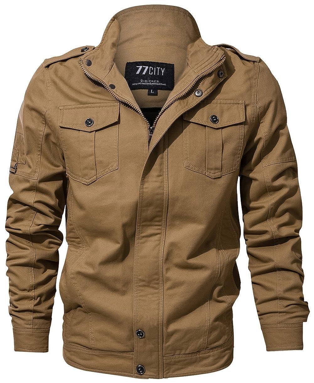DHYZZ Herren Herren Herren Hochwertige Modische Baumwolle Militär Jacke Windproof Mantel Übergröße 12 Styles - Alles, was Sie Hier wollen B07PNMPKH4 Jacken Förderung 6bd5e9