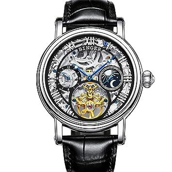 BINGER Marca de Lujo Hombres Suiza Relojes Deportivos,Impermeable Movimiento de Japón Reloj mecánico automático