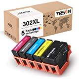 TESEN Remanufactured 302XL Ink Cartridge Replacement for Epson 302XL 302 T302XL T302 with Upgraded Chip Use with Epson XP-600