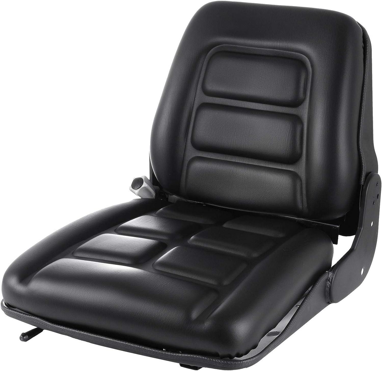 Hihone Universal Forklift Seat, Forklift Suspension Seat for Truck 3 Stage Weight Adjustment, Black Forklift Seat