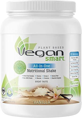 Vegansmart Plant Based Vegan Protein Powder by Naturade, All-In-One Nutritional Shake – Vanilla 15 Servings