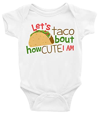 f2182d958 Amazon.com: Taco Shirt Kids Toddler Baby - Let's Taco Bout How Cute I Am  Shirt - Taco Shirt Girls Boys - Taco Baby Outfit: Clothing
