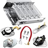 279838 Dryer Heating Element for Whirlpool Roper Kenmore Dryer Heating Element Parts 3392519 3977393 Thermal Fuse & 3387134 3