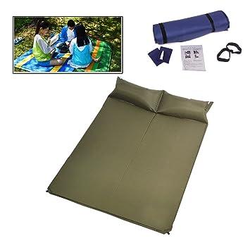 Netspower Colchón Hinchable Automático Impermeable de Camping con Almohadas para Viaje para Dos Personas