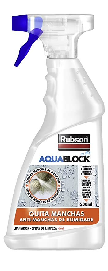 Rubson Aquablock spray blanqueante quitamanchas de humedad, 500ml