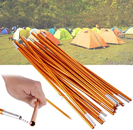 2 Pcs Aluminium Alloy Tent Rod Replacement Accessories for Hiking Camping Dilwe Tent Pole