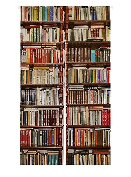 Custom Neat BookshelfLibrary Japanese Noren Doorway Curtain Door And Window Tapestry Size 85x150cm