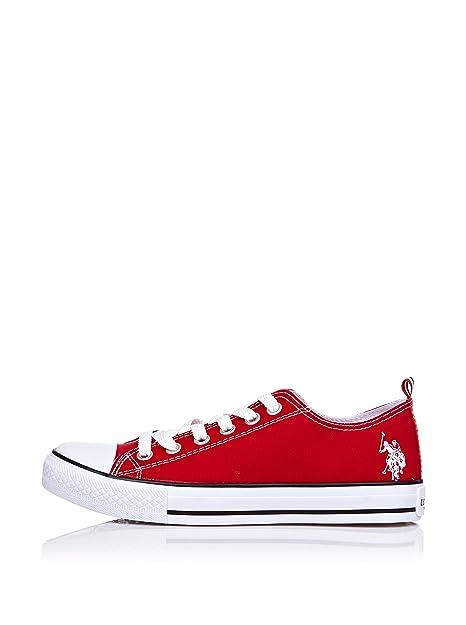 Us Polo Shoes Zapatillas Cordones Rojo EU 40: Amazon.es: Zapatos y ...