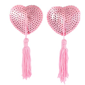 f8526d7c91018 1 Pair Sequin Nipple Covers Tassels Heart Shape Nipple Stickers Breast Pasties  Wholesale Chest Stickers Toys