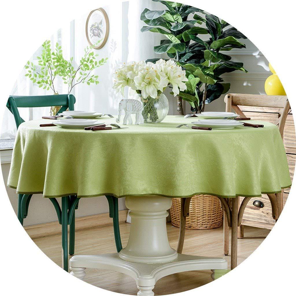 YTJ-JP アメリカンソリッドカラーラウンドテーブルクロス、ヨーロッパのテーブルクロス、ホテルの大きなテーブルクロス、布アーティストの家庭用、モダンでシンプル (Color : A, Size : 200cm) 200cm A B07SRZ1WMZ