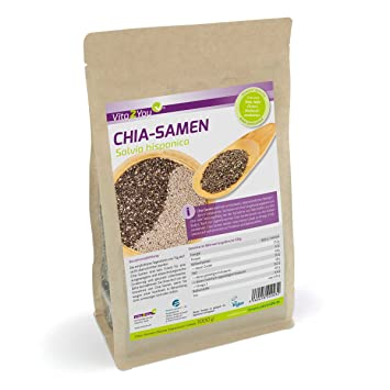 Vita2You Chia semilla - Salvia Hispanica - 1kg Zippbeutel ...