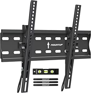 """MOUNTUP Tilting TV Wall Mount Bracket for 26-55 Inch Flat Screen TVs/Curved TVs, Low Profile TV Wall Mount TV Bracket - Easy to Install On 12"""" or 16"""" Studs, VESA 400x400mm Weight up to 99 LBS, MU0007"""