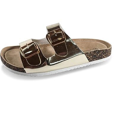 Schuhtraum Damen Sandalen Fußbett Komfort Sandaletten Metallic Pantoletten  Slipper Clogs BY2  Amazon.de  Schuhe   Handtaschen 64cb87d0d8