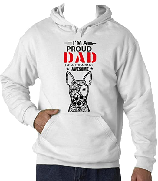 Teesquare1st BULL TERRIER - IM A PROUD DAD Sudadera con capucha T-Shirt: Amazon.es: Ropa y accesorios