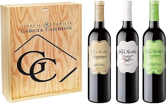 Pata Negra - Lote de 3 Botellas de Vino, Apasionado, Apasionado Sin Sulfitos y Apasionado Ecológico, Pack de 3 botellas x 75 cl: Amazon.es: Alimentación y bebidas