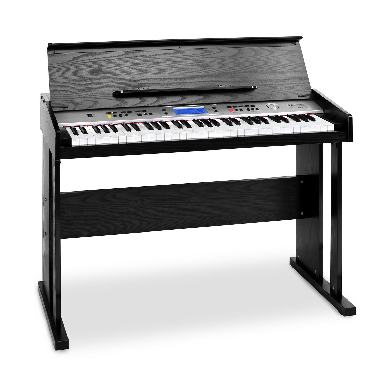 Schubert Carnegy-61 • Piano électrique • Clavier • 61 touches • Frappe dynamique • 100 rythmes • 136 instruments • 8 morceaux de démonstration • Haut-parleurs stéréo • Fonction d'enregistrement • noir product image