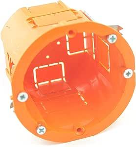 MKK - Caja de empalme para empotrar (60 x 60 mm), color naranja ...