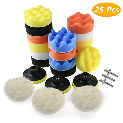 "8X 4""//5/'/'//6/'/'//7/'/' Sponge Polishing Waxing Buffing Pad Set Compound Car Drill"