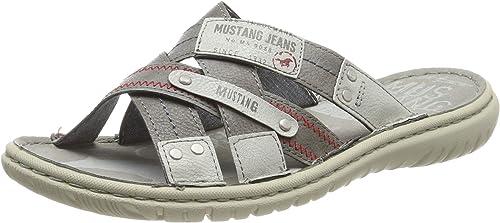MUSTANG Herren 4134 701 2 Pantoletten: : Schuhe