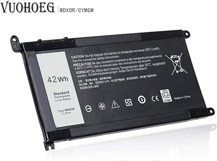WDX0R Laptop Battery for Dell Inspiron 15 5565 5567 5568 5578 7560 7570 7579 7569 P58F ; 13 5368 5378 5379 7368 7378 14-7460 Series Notebook Battery WDXOR FC92N 3CRH3 T2JX4 CYMGM