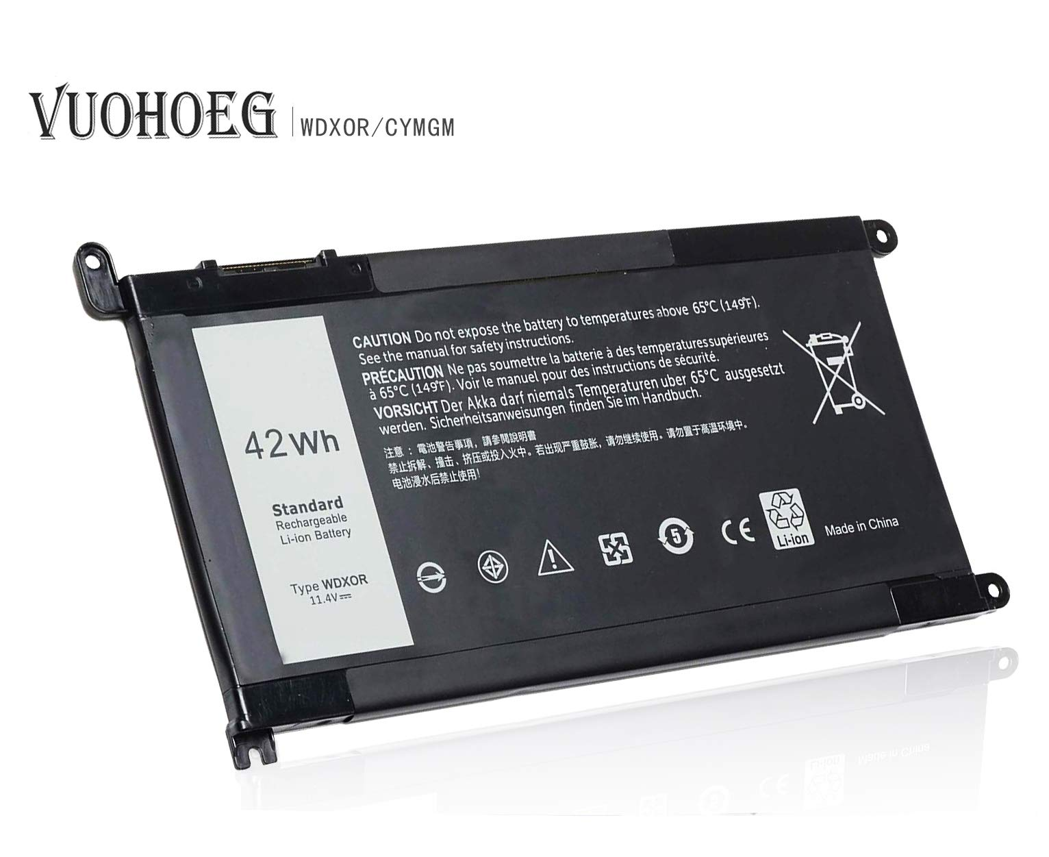 WDXOR WDX0R New Laptop Battery for Dell Inspiron 13 5368 5378 5379 7368 7378; Inspiron 14-7460 15 5565 5567 5568 5578 7560 7570 7579 7569 P58F; Inspiron 17 5765 5767;P/N:FC92N 3CRH3 T2JX4 CYMGM