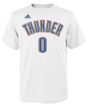 Adidas Russell Westbrook Oklahoma City Thunder # 0 Juventud NBA Nombre y número Jersey Camiseta casa Blanco, Blanco: Amazon.es: Deportes y aire libre
