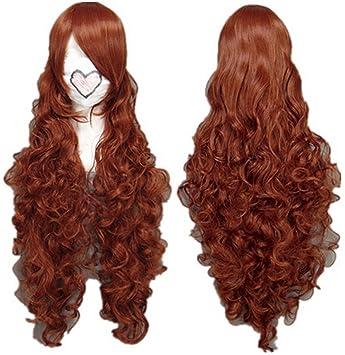 Cosplay peluca marrón peluca extra larga de Brown peluca rizada Jade Stern, Rozen Maiden Pelucas