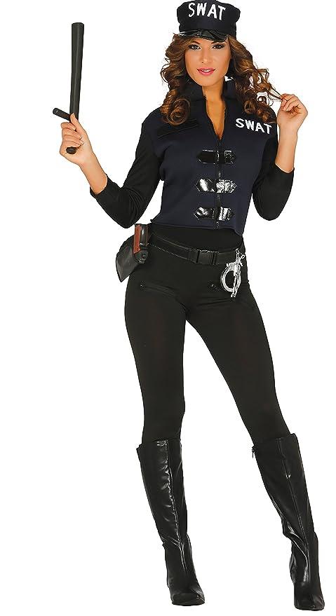 Guirca- Disfraz adulta policía, Talla 38-44 (84357.0 ...