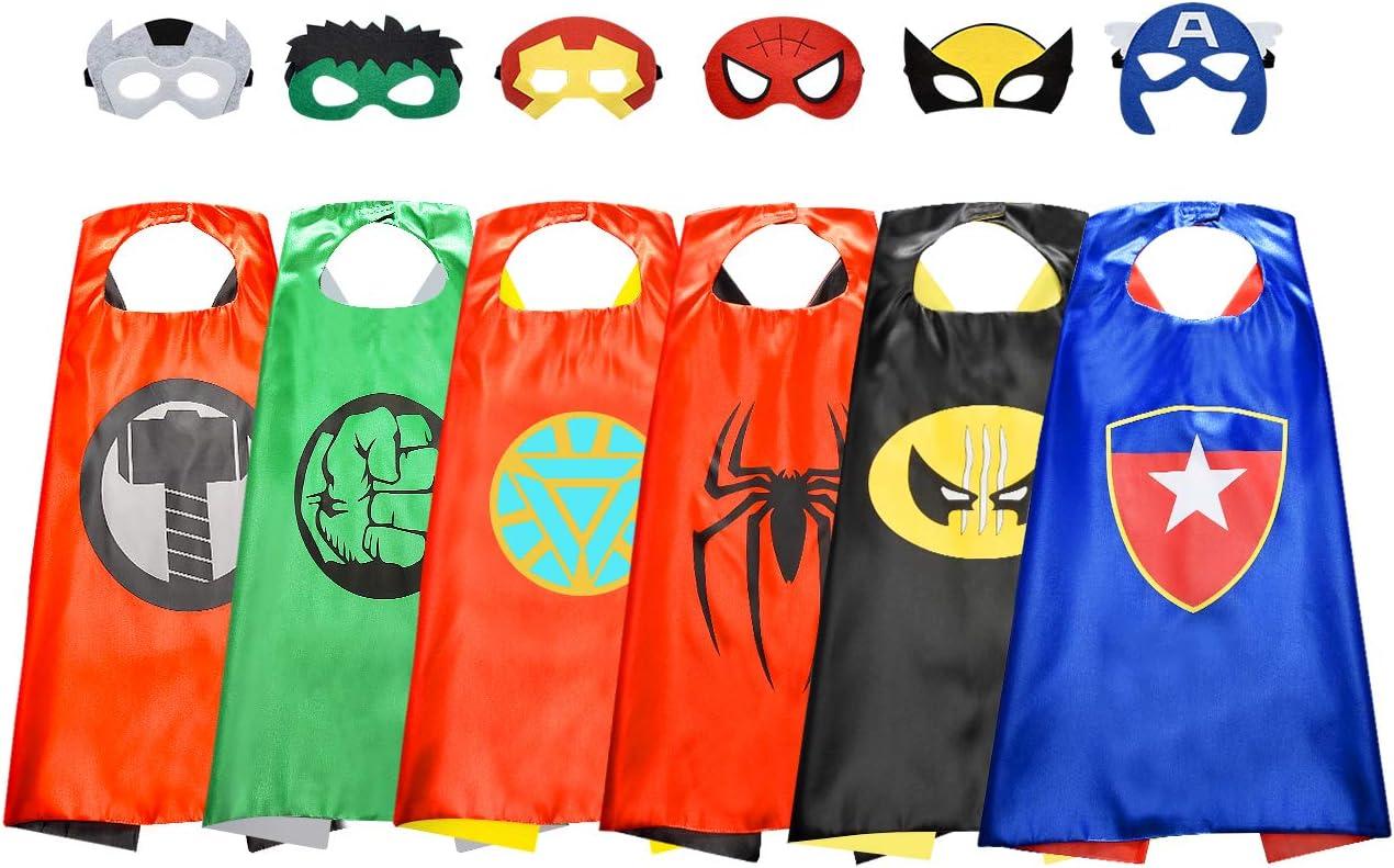 ATOPDREAM Capa de Superhéroe para Niños Niños - Capas para Fiestas/Disfraz de Carnaval/Cosplay