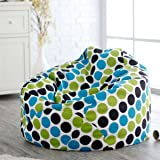 Multi colored polka dot bean bags with filled beans xxxl HD Printed by Style Crome