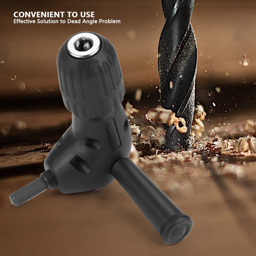3//8Adaptador de /ángulo Recto 90 Grados Conjunto de Brocas para Taladro El/éctrico Accesorio 9.5mm Mandril Redondo Sin Llave