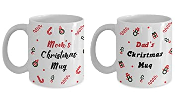 Parents Christmas Gift Christmas Mugs Set Dad And Mom Christmas Gift Gift For