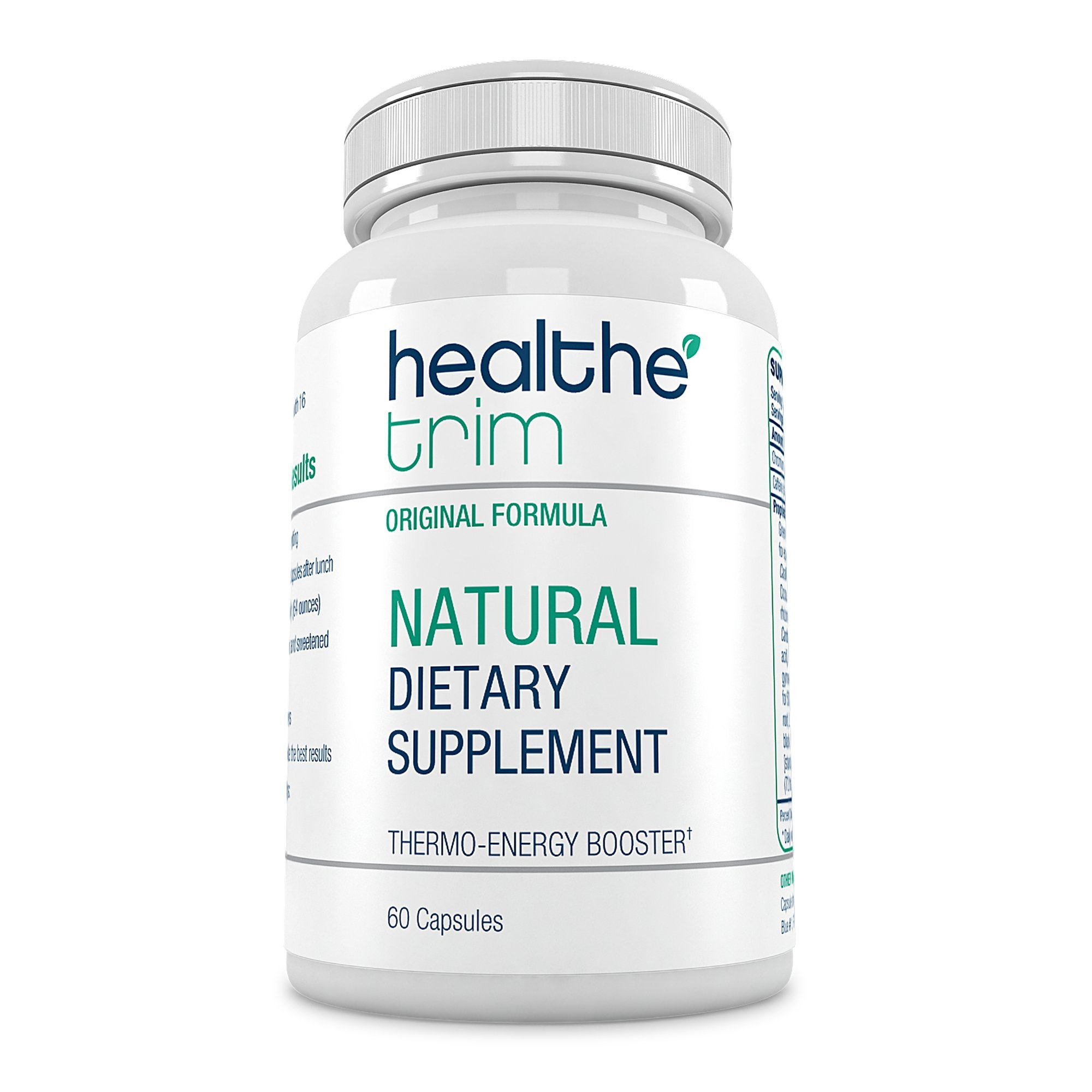 Healthe Trim Thermo Energy Booster - Supports Healthy Appetite Control - 100% Satisfaction Guarantee (60 Capsules).