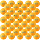50-Pack KEVENZ 3-Star 40mm Orang Table Tennis Balls,Advanced Training Ping Pong Balls (Practice ping-pong Ball)