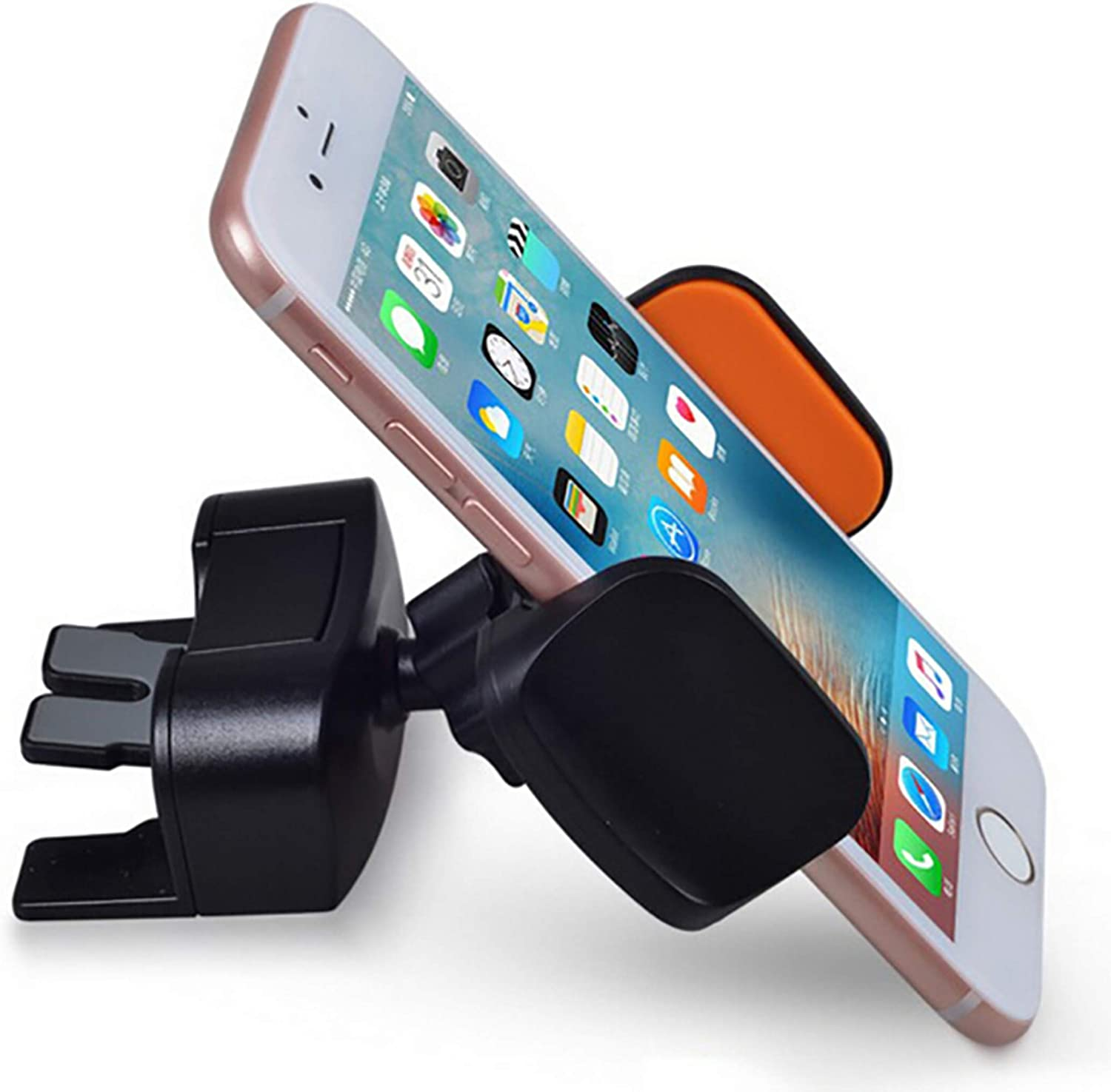 "GPS Pelotek: Cell Phone Car Mount ✮ Car Cell Phone Holder ✮ Long Arm Clamp Strong Suction Cup for Dashboard Windshields with 360/° Rotating Design ✮ Fits All Cell Phones 6.5/"" Easy to Use. Durable"