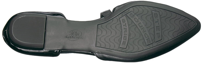 LifeStride Women's Zalana Pointed Toe Flat B07336KSX8 6.5 W US|Blackdm