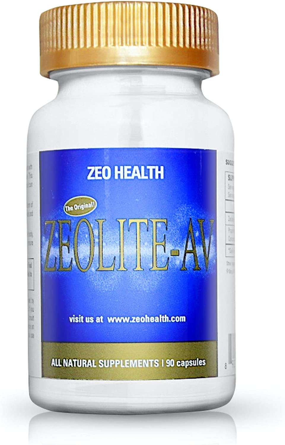 ZEOLITE–AV Capsules | Potent Immune System Booster with Humic Acid | Restore Trace Minerals, Replenish Electrolytes, & Remove Toxins | Promotes Energy, Restful Sleep, & Alleviates Brain Fog (90 Count)