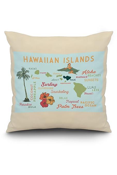 Amazon.com: Hawaiian Islands (Version 3) - Typography and ...