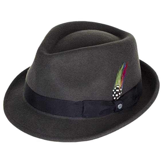 a196e4662a49a Stetson Hats Richmond Felt Trilby - Grey  Amazon.co.uk  Clothing