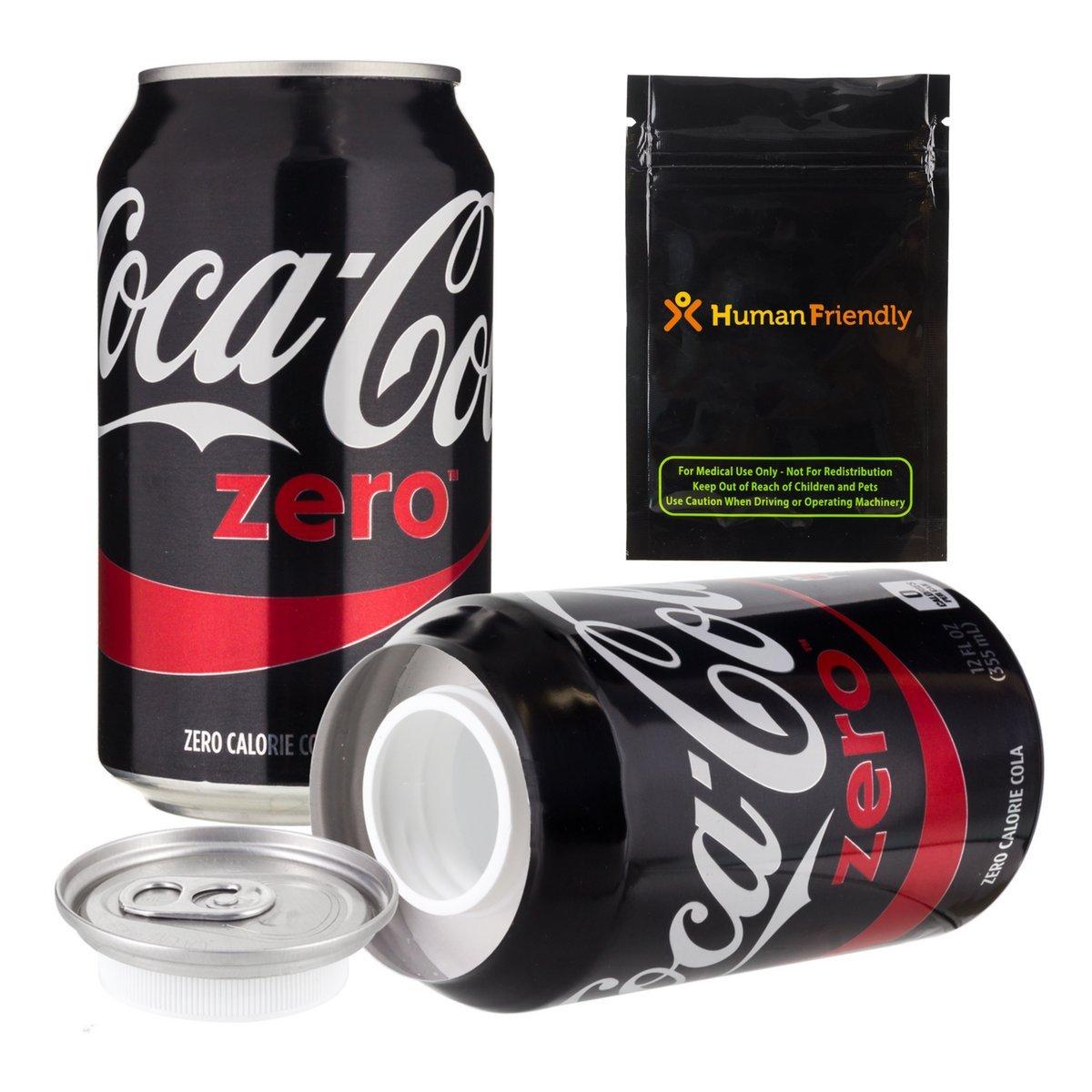 Coke Zero Diversion Safe Stash Can 12 oz w HumanFriendly Smell Proof bag