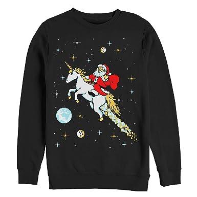 ce7717913ee Men s Ugly Christmas Sweater Santa Unicorn Sweatshirt at Amazon ...