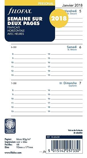 Filofax Personal Vertical 2019 - Recambio para Agenda ...