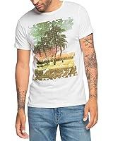 ESPRIT Herren T-Shirt 066ee2k006-mit Fotoprint-Slim Fit