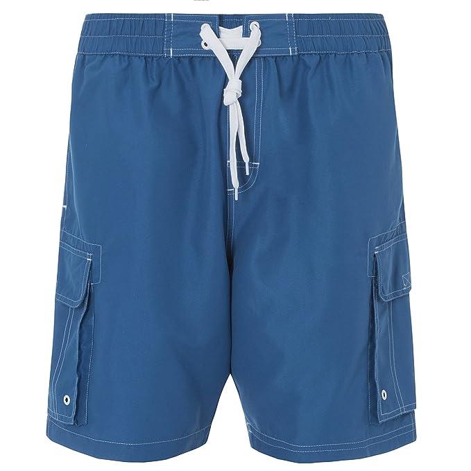 Mens Plus Size Long Plain Swim Shorts