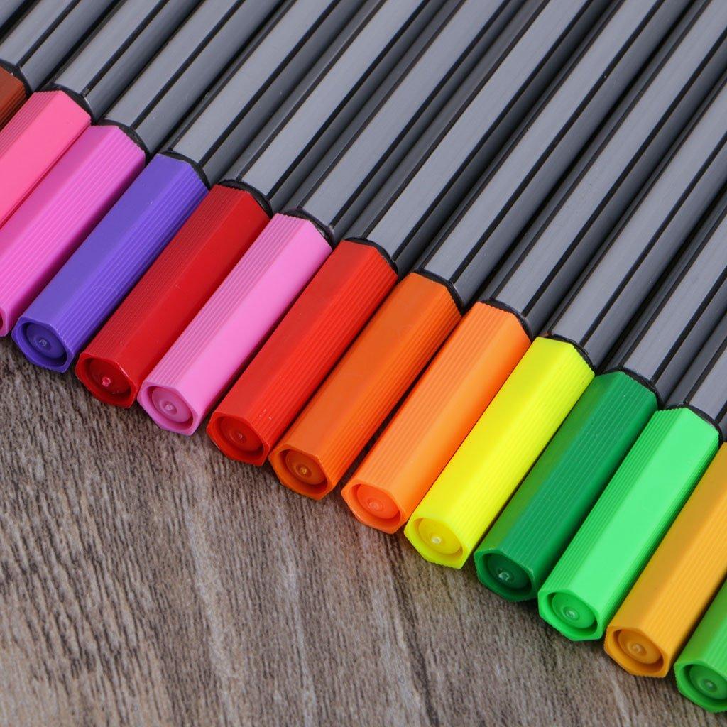 24 colori YOFO 0,4 mm Pennarello a base acqua