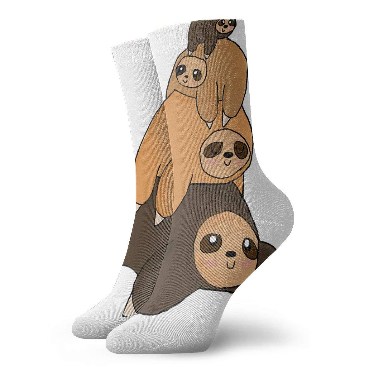 Cute Sloth Fashion Dress Socks Short Socks Leisure Travel 11.8 Inch
