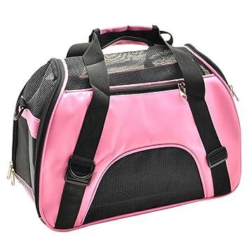 Mochilas para Perros Bolsas para Mascotas Bolsas para Llevar Bolsas para Perros Cajas para Gatos Bolsas De Viaje,Pink-L: Amazon.es: Hogar